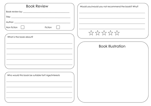 book review template by bora bora teaching resources tes