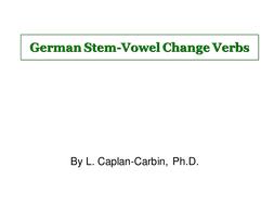 Stem-Vowel-Change-Verbs.ppt