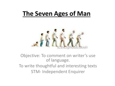 seven ages of man pdf