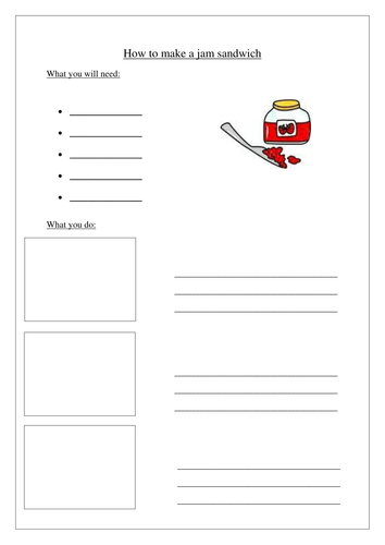 Instructions writing template by kathryn87 - Teaching ...