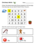 Maths Christmas Worksheets