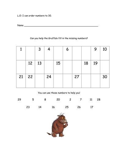 Ordering Numbers Worksheet Tes Ks1 Mattawa
