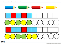 repeating pattern sequences by tesearlyyears teaching resources tes