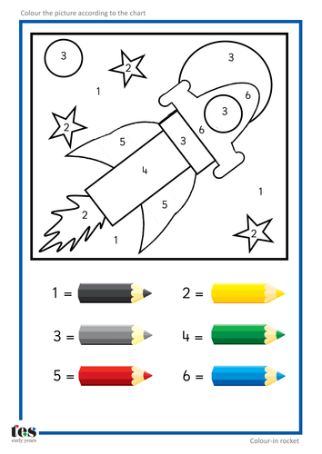 Colour by Numbers by TESEarlyYears - Teaching Resources - TES