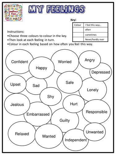 Managing Emotions Worksheet Pdf Proga Info