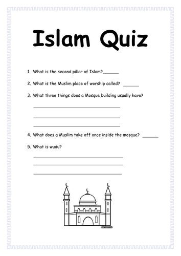 islam resources quizes worksheets template by englishgirl8 teaching resources tes. Black Bedroom Furniture Sets. Home Design Ideas