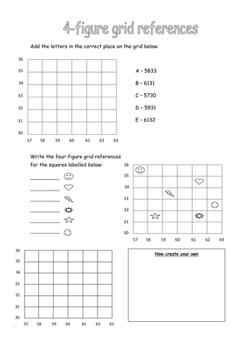 4 figure grid references by 88collinsl teaching resources tes. Black Bedroom Furniture Sets. Home Design Ideas