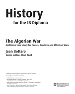 Cambridge IB History: The Algerian War - Resources