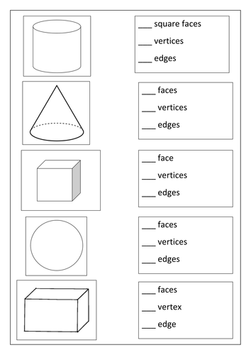 3d Shape properties & nets by hayley76 - Teaching Resources - TES