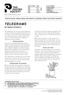 Short Telegram Poems: Creative Writing Lesson