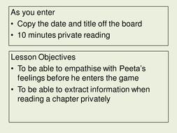 Hunger Games Scheme of Work Part 1