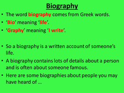 autobiography example 5th grade