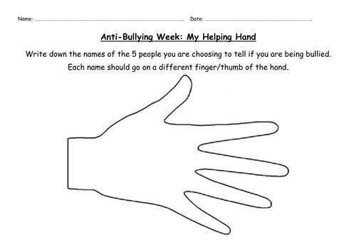 Anti Bullying Worksheets For Kindergarten