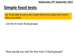 Simple food tests.pptx