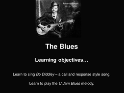 Bo Diddly call & response song and C Jam Blues