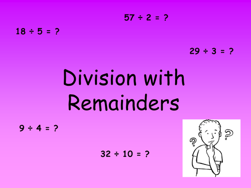 Division with remainders powerpoint worksheets by elasticbandy – Division with Remainders Worksheets