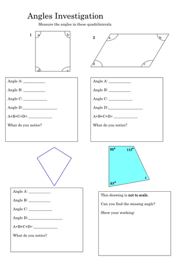 Finding Missing Angles In Triangles Quadrilaterals By
