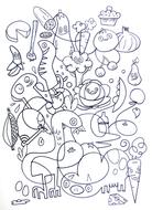 Jon Burgerman Colouring Sheets