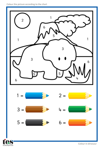 Colour by Numbers TEACCH Activities - Dinosaurs! by ...
