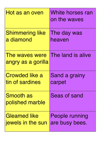 Similes And Metaphors Poems 1
