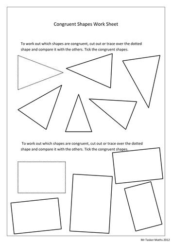 congruent shape worksheet by christasker teaching resources tes. Black Bedroom Furniture Sets. Home Design Ideas