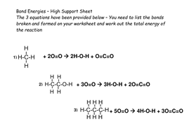 Bond Energy Tutorial and Practice Calculations by beccykg - Teaching ...