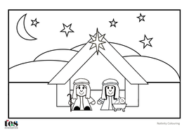 christmas tree colouringpdf nativity colouringpdf
