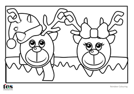 reindeer colouringpdf close christmas colouring sheets