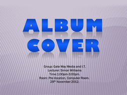 Design a 'Album Art Cover' of your own.
