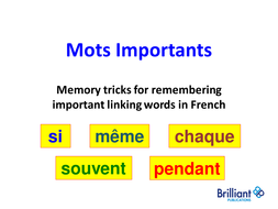 French - Important little words