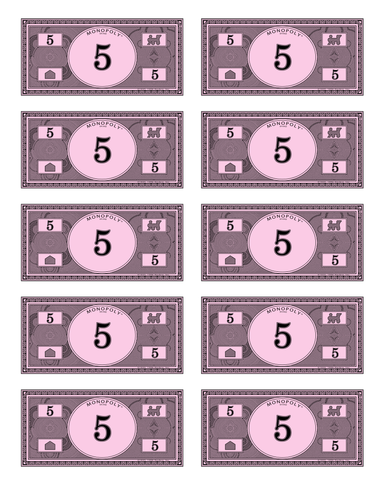 It's just a picture of Obsessed Monopoly Money Printable