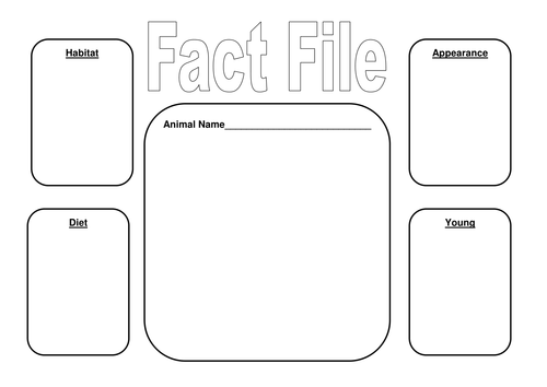Animal Fact File Frame and Matching Activities by StefanieTuesday ...
