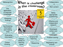What is challenge in lessons?