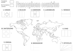 Francophone countries by becobbold | Teaching Resources