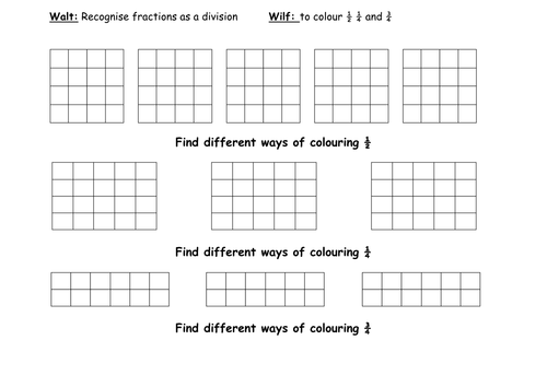 Shading Fractions Worksheet Davezan – Fractions of Shapes Worksheet