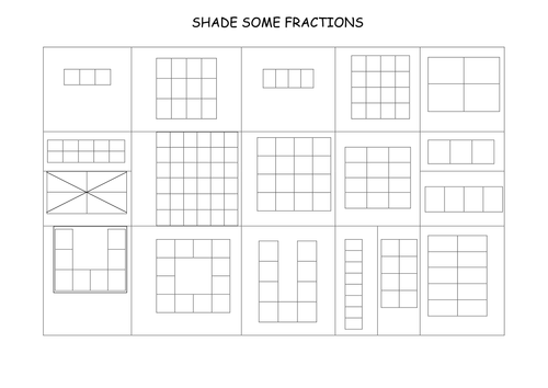 Number Names Worksheets fractions of shapes worksheets Free – Fraction Shading Worksheets