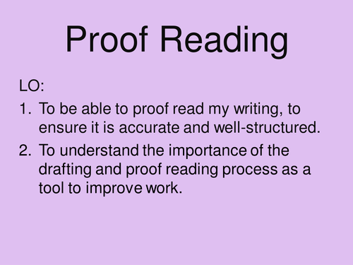 Reading proof