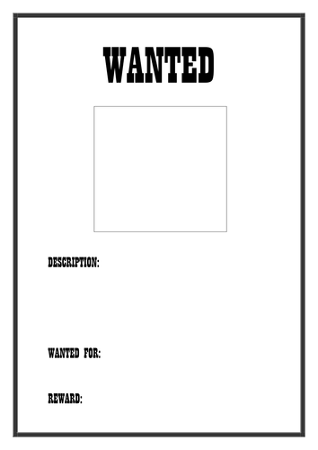 Wanted poster template by dreamingisfree teaching for Wanted pirate poster template