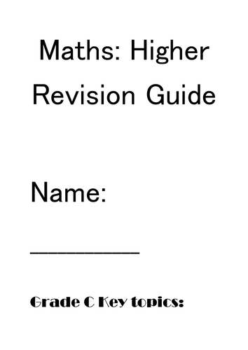 Maths GCSE Higher revision booklet part 1 by petecotton