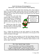 Christmas Cookie Mystery - Science investigation