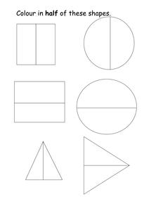 colour in half of the shapes worksheet resources tes. Black Bedroom Furniture Sets. Home Design Ideas