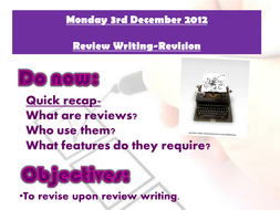 Revision lesson 1 on Review writing