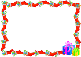 Christmas Page Border.Christmas Themed Lined Paper And Pageborders