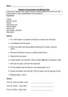 boiling worksheet