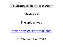AFL Strategies 4 - spider web