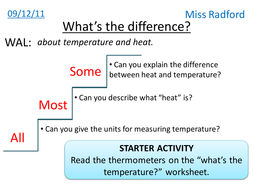 Temperature and heat - Year 8 by hannahradford - Teaching Resources ...