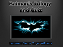 Batman: The Trilogy and The Game Quiz.