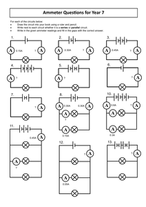 Simple Electric Circuit Diagram Worksheet Images
