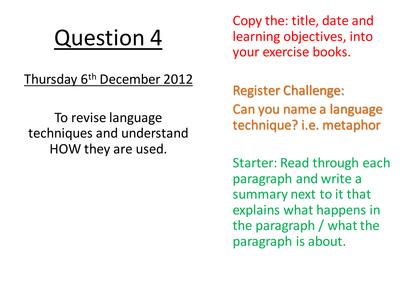 How to write IB English HL paper 1 exam?