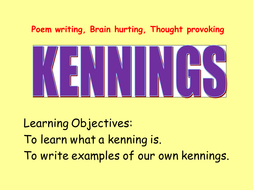 kennings ks2 lessondoc kennings powerpointpptx